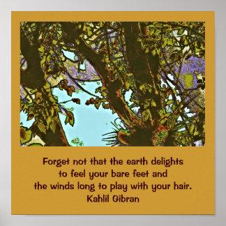 Gibran quotation poster