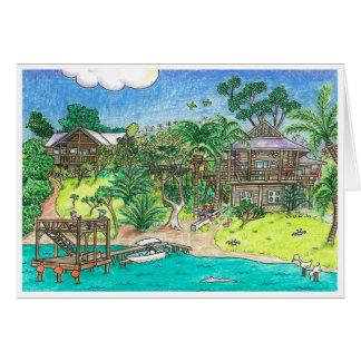 Gibson Bite,Roatan, Honduras Greeting Card