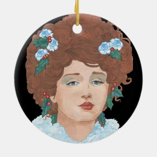 Gibson Christmas Rose Ceramic Ornament