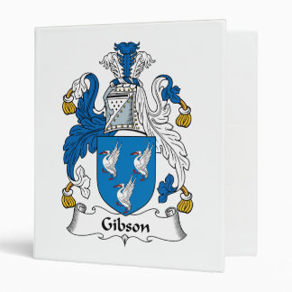 Gibson Family Crest 3 Ring Binder