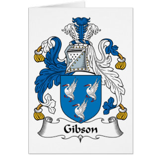 Gibson Family Crest Greeting Card