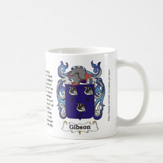 Gibson Family Crest on a mug