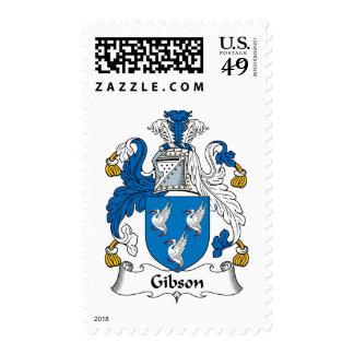 Gibson Family Crest Postage Stamps