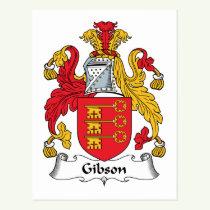 Gibson Family Crest Postcard