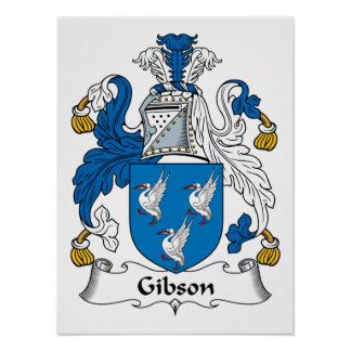 Gibson Family Crest Poster