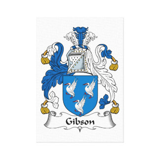 Gibson Family Crest Stretched Canvas Print