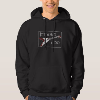 GIBSON FLYING V-IT'S WHAT I DO HOODED PULLOVER