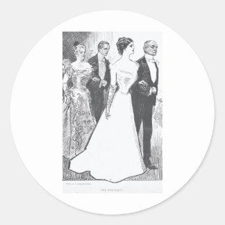 Gibson Girl-1 Classic Round Sticker