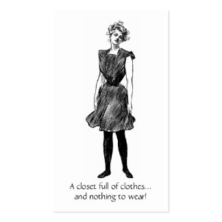 Gibson Girl Business Card for Consignment Shop