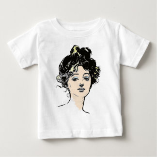 Gibson Girl Head Designs Baby T-Shirt