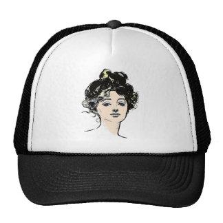 Gibson Girl Head Designs Trucker Hat