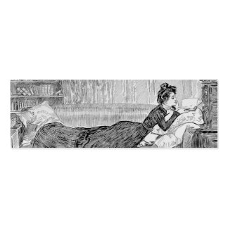 Gibson Girl Reading Business Card Templates