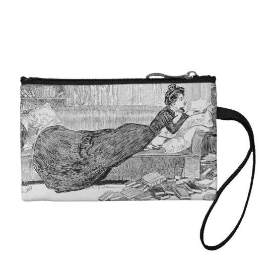 Gibson Girl Reading Coin Purse
