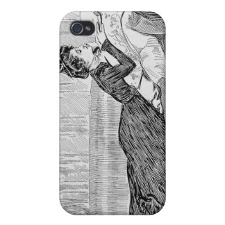 Gibson Girl Reading iPhone 4/4S Cases