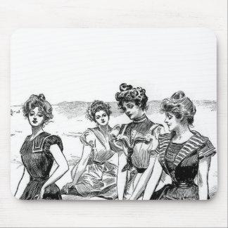 Gibson Girls at the Beach Mousepads