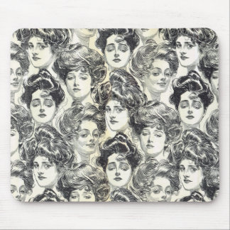Gibson Girls by Charles Dana Gibson Circa 1902 Mousepad