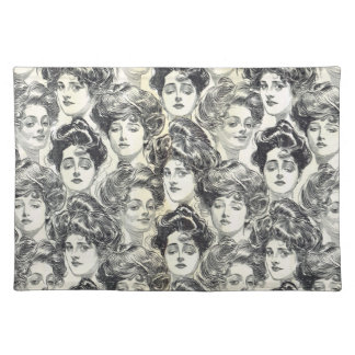 Gibson Girls by Charles Dana Gibson Circa 1902 Cloth Placemat