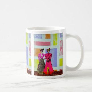 Gibson Girls in a Mondrian Pattern Coffee Mug