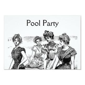 Gibson Girls Pool or Beach Party Custom Announcement
