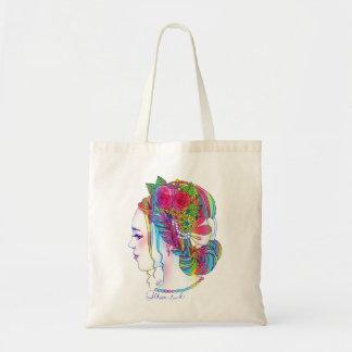 Gibson Tuck (girl illustration of flower//colorful Tote Bag