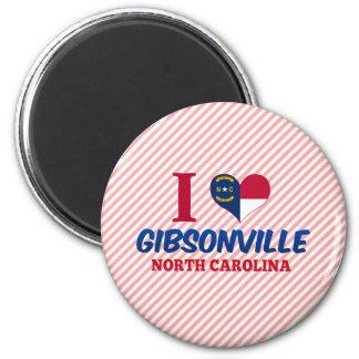 Gibsonville, North Carolina 2 Inch Round Magnet