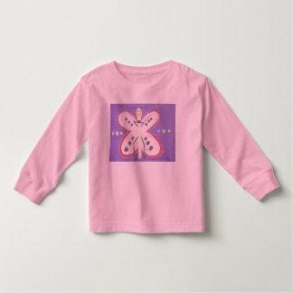 Giddy Little Butterfly Kids Longsleeve Tshirt