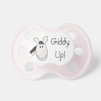 Giddy Up Black & White Pony Pacifier