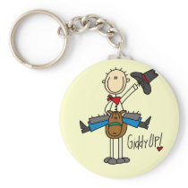 Giddy Up Cowboy Tshirts and gifts Keychain