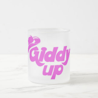 Giddy up Cowgirl Frosted Glass Coffee Mug