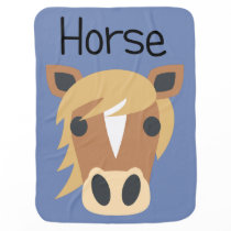 Giddy Up Horse Baby Blanket