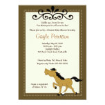 Giddy Up Horse Cowgirl 5x7 Baby Shower Invitation
