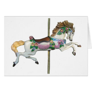 Giddy Up Merry Go Round Horse Blank Card