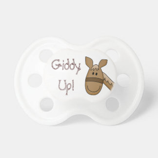 Giddy Up Palomino Pony Pacifiers