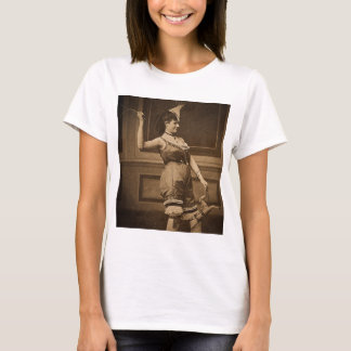 Giddy Up! Vintage Risque Stereoview Sepia T-Shirt
