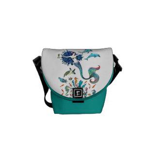 Giddy Yup ~ Seahorse Messenger Mini ~ by Kat Messenger Bag