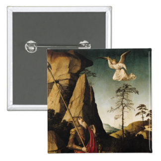 Gideon and the Fleece, c.1490 2 Inch Square Button