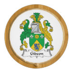 Gideon Family Crest Round Cheese Board