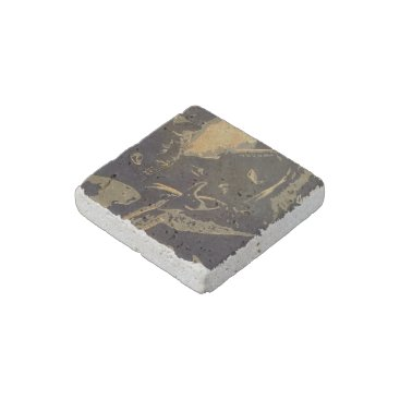 "Art Themed ""Gideon"" Natural Stone Magnet"