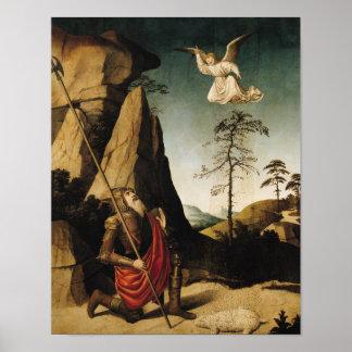 Gideon y el paño grueso y suave, c.1490 póster