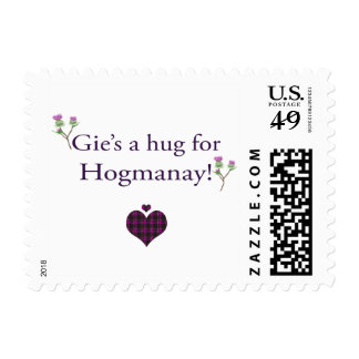 Gie's a hug for Hogmanay Postage