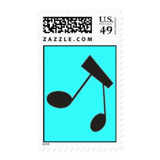 gif_0001_music.gif MUSIC NOTES BLACK WHITE TIE Postage Stamp