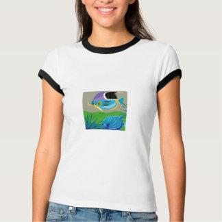 gif_0_Z-10 TROPICAL BLUE FISH cartoon vectors T-Shirt