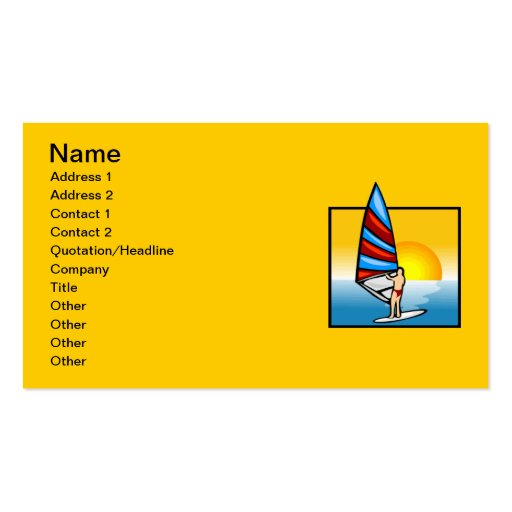 gif_3_sea.gif Colourful WindSurfer water sports Double-Sided Standard Business Cards (Pack Of 100)