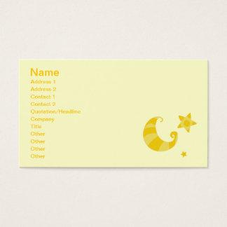 gif_moon_stars_sky_001 yellow striped moon stars business card