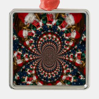 GIF retro colorido de Navidad de los regalos de Adorno Navideño Cuadrado De Metal