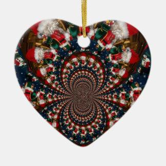GIF retro colorido de Navidad de los regalos de Adorno Navideño De Cerámica En Forma De Corazón