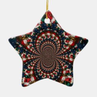 GIF retro colorido de Navidad de los regalos de Adorno Navideño De Cerámica En Forma De Estrella