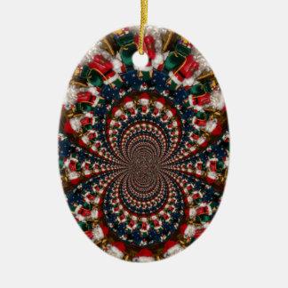 GIF retro colorido de Navidad de los regalos de Adorno Navideño Ovalado De Cerámica