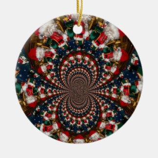 GIF retro colorido de Navidad de los regalos de Adorno Navideño Redondo De Cerámica
