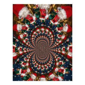 GIF retro colorido de Navidad de los regalos de Na Membrete Personalizado